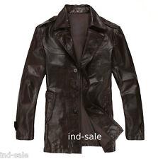 Custom Tailor Made All Size Genuine Blazer Coat Leather Jacket Designer Brown