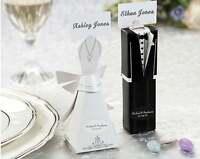 120 Kate Aspen Bride Groom Tux Wedding Bomboniere Boxes Favors Almond Chocolate
