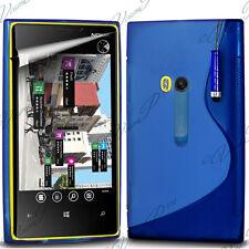 ACCESSOIRES COQUE GEL TPU S STYLET BLEU Nokia Lumia 920