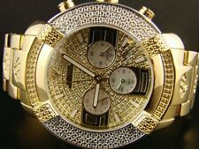 Mens New Aqua Master Joe Rodeo Stainless Steel KC Real Diamond Watch W#96