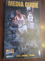1998-99 Philadelphia 76ers basketball Media Guide Allen Iverson cover