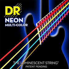 DR NMCB5-45 Neon Multi-Color BASS Guitar 5-String Set 45-125 multi color
