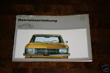 Betriebsanleitung VW K 70 / K70