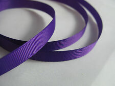 25m Full Reel Woven Edged Grosgrain Ribbon - 25mm 1 Inch Width Purple
