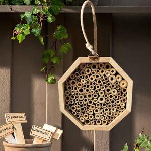 Holzbienenhaus Set Rohr Imkerkiste Bienen Nistkasten Garten Insektenkasten