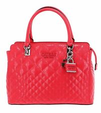 GUESS Queenie Luxury Satchel Schultertasche Tasche Coral Pink Neu