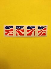 Scott# 4894-97 Forever Stamp Red, White and Blue With Backing #, Strip Of 4
