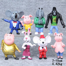 New Sing Movie Cartoon 8PCS/SET Action Figure Toys 3-4'' Buster Moon Johnny Doll