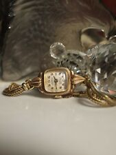 RELIDE 15 JEWELS ANTIMAGNETIC WATCH ROLLED GOLD BEZEL FOR PARTS OR NOT WORKING !