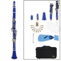 Clarinet ABS 17Key bB Flat Soprano Binocular Clarinet with Cleaning Cloth Gloves