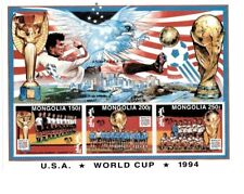 Mongolia World Cup 1994 - Sheet of Three Stamps - Perf - MNH