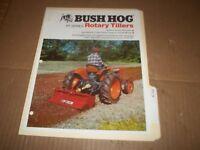 PY28) Bush Hog Sales Brochure 4 Pages - RT Series Rotary Tiller