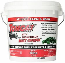 MOTOMCO Tomcat Mouse and Rat Bromethalin Bait Chunx, 4-Pound , New, Free Shippin