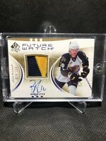 2007-08 UD SP Authentic Bryan Little Rookie Future Watch Auto Patch /100 RC Jets