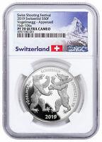 2019 Switzerland Shooting Festival Thaler Appenzell Silver NGC PF70 UC SKU57709