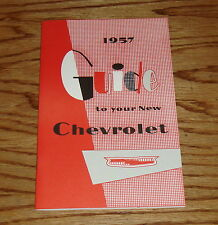 1957 Chevrolet Car Owners Operators Manual 57 Chevy Bel Air