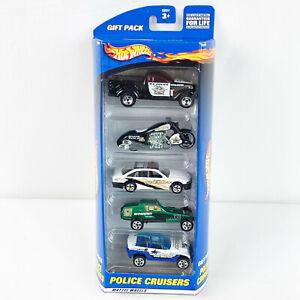 Hot Wheels Paquet De 5 Police Cruisers Camion Moto Buggy Paquet Cadeau 2000 Neuf