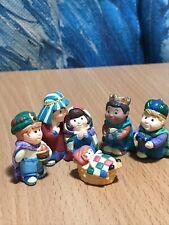 Hallmark Merry Miniatures Nativity & 3 Wee Kings Christmas Pageant 1997