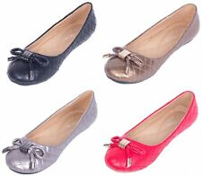 Women Ballerina Ballet Flats, Office & Casual Slip Ons Shoes w/ Matching Bow