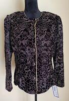R & K Evening Dressy Jacket, Misses  Size Large NWT