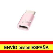 Adaptador Micro USB Hembra a USB 3.1 Tipo C Macho Conector Conversor Rosa a2981