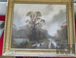 John Trickett Painting - Oil on Canvas.  Good Condition.