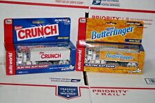 Racing Rigs IWheels HO Auto World Slot Car Semi Trucks Butterfinger & Crunch