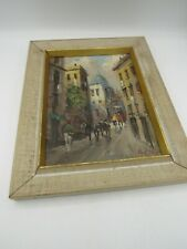 """Impressionist Oil Painting Italy Signed A. Razzi 12"""" x 9 1/2"""""""