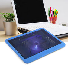 "Wide 14"" USB Notebook Computer Cooling Stand Pad LED Light Quiet Big Fans LJ"