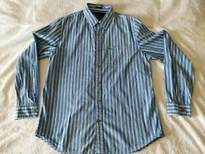 American Eagle Outfitters Vintage Fit Blue Striped Button Down Shirt Men's XL/TG