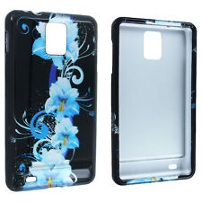 Blue Flower Design Snap-On Hard Case Cover for Samsung Infuse 4G i997