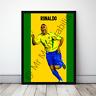 Ronaldo in Brazil R9 Football Gift Framed Cartoon Poster
