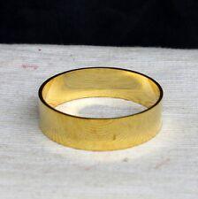 4.4cm 24k chapado en Oro Anillo De Latón Esfera Soporte Espécimen 299-1