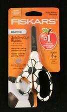 "Fiskars - 5"" School Safety Scissors - Soccer Design - Non Stick - Blunt Tip"