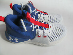 Under Armour Embiid 1 USA  3023086 107  man white/blue shoes sz 9.5 10 Black New