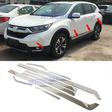 fit 2017 2018 Honda CR-V 8pcs Stainless Body Side Front Rear Bumper Molding Trim