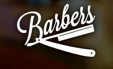 """LARGE 21"""" barbers barber shop window door vinyl graphic sticker wall art pole"""
