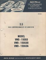 1966 WARDS SEA KING OUTBOARD 3.5 HP,(SEE COVER LIST) PARTS MANUAL OB 864-1 (434)