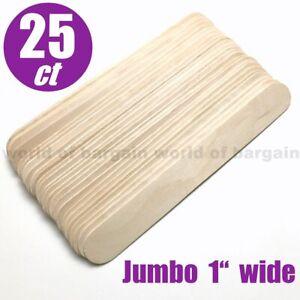 "25 pcs EXTRA JUMBO Wooden Popsicle Sticks 1 x 8"" Wood Art Craft Stick School C86"