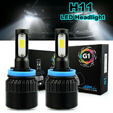 JDM ASTAR Pair H11 8000LM LED Headlight High/Low Beam Kits Bulbs H8 6000K White