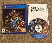 PS4 - Shovel Knight - Complete w/ Insert - Tested & Guaranteed -Read Description
