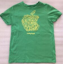 Apple Store Today At Apple Camp Logo Shirt Medium Green Yellow Short Sleeve Tee