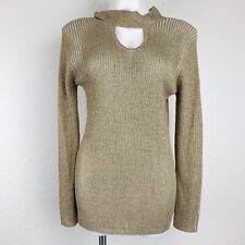 BELLDINI Gold Ivory Combo Women Sweater. Size XL. NWT.