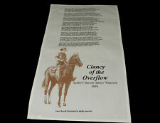 Australia Souvenir Tea Towel Clancy of the Overflow Andrew Barton Banjo Paterson