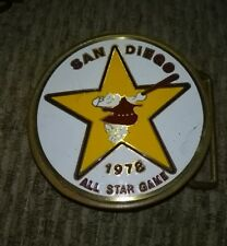 VINTAGE 1978 MLB SAN DIEGO PADRES ALL STAR GAME BRASS BELT BUCKLE,GREAT SHAPE.