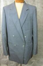CHRISTIAN DIOR MONSIEUR Slubbed Slate Gray Double Breasted Sport Coat Blazer 44