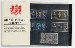 GB 1964 Shakespeare Festival Presentation Pack VGC stamps Free postage