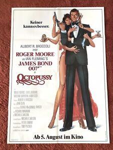 Octopussy Kinoplakat Poster A1, James Bond, 007, Roger Moore, 1983