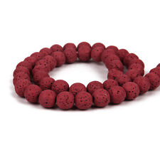 8MM Natural Stone Volcano Lava Round Loose Beads For DIY Jewelry Making Lot UK