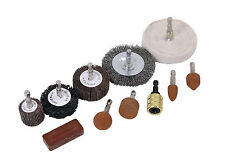 11PC Drill Polishing Buffing Sanding Wheel, Cleaning Rust Remover Set Hex Shaft